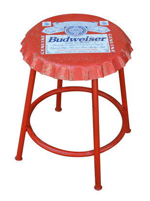 Crowning Glory - Industrial Stools (Red) Furniture By Desi Jugaad