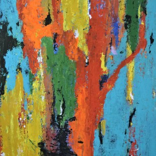 Tree Of Wisdom by Shreya Shailee, Abstract Painting, Acrylic on Board, Cyan color