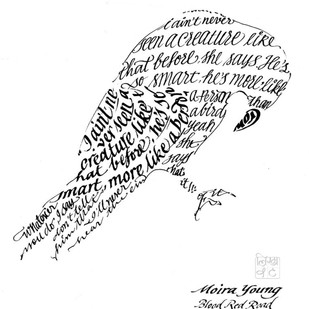 Fav Crow by Shipra Dutta, Illustration Painting, Ink on Paper, White color