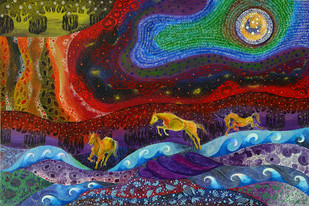 Gallop to Paradise Print By Pragati Sharma Mohanty