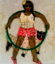 Masti Time by Sonal Varshneya, Expressionism Printmaking, Etching and Aquatint, Beige color