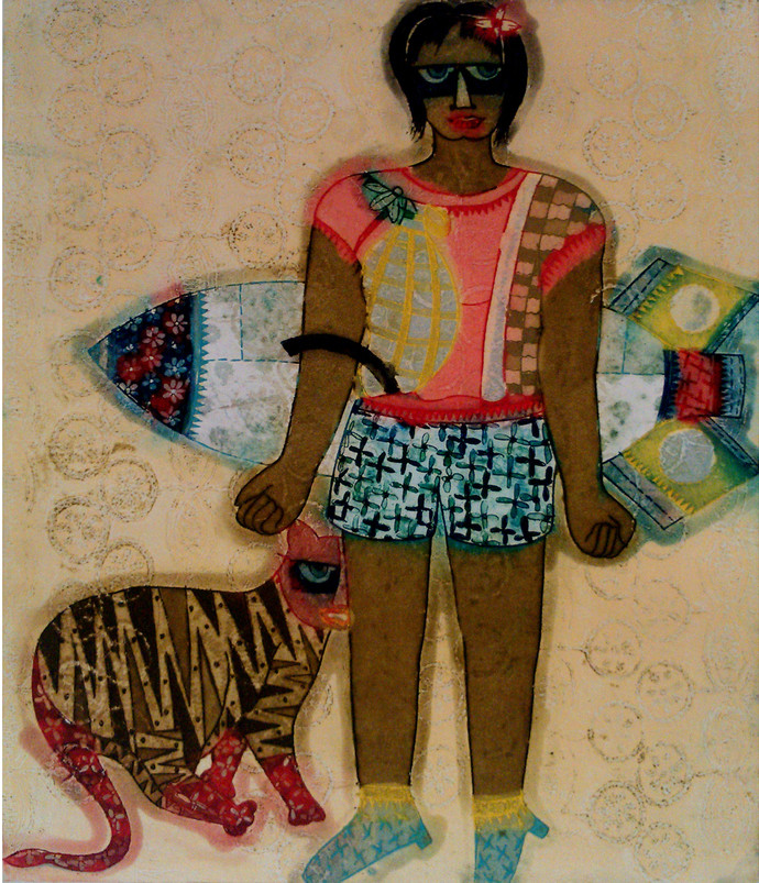 Masti Time by Sonal Varshneya, Expressionism Printmaking, Etching and Aquatint, Brown color