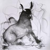 Artist  skgsm  year  2011  title   bull 93   size  17''x17''  media  pencil