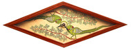 Patachitra Wall Clock - Diamond Parrot Wall Decor By Crafel