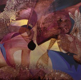 Roisterous Reefs by Sahaya Sharma, Abstract Painting, Acrylic on Canvas, Brown color
