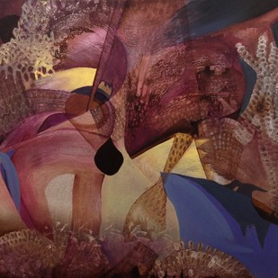 Roisterous Reefs by Sahaya Sharma, Abstract Painting, Acrylic on Canvas, Brown color