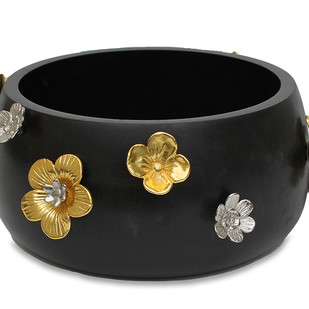 Midnight Blooms Serving Bowl Accessories By Mudita Mull