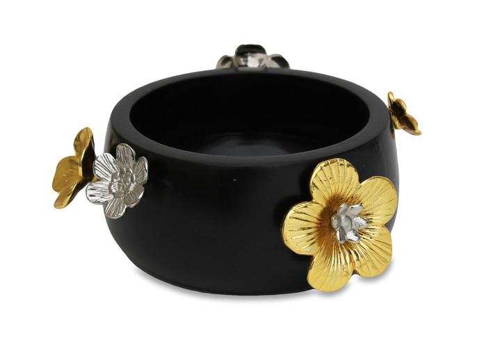 Midnight Blooms Small Bowl By Mudita Mull