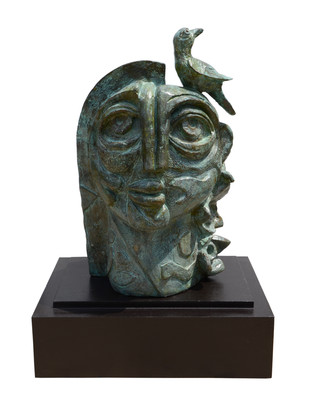 The Nature by Atish Mukherjee, Art Deco Sculpture | 3D, Bronze, White color