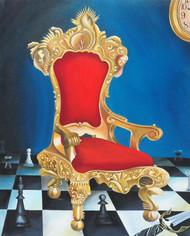 single player by Pranati Das, Decorative, Fantasy Painting, Acrylic on Canvas, Blue color