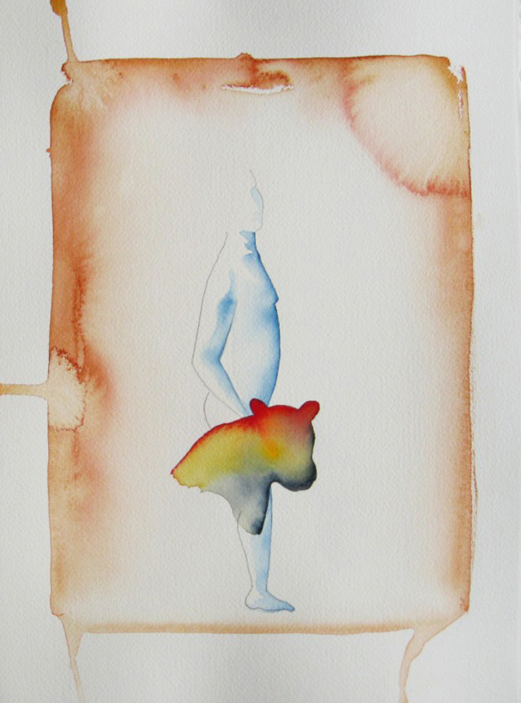 untitled by Jehangir Jani, Minimalism Painting, Watercolor on Paper, Gray color