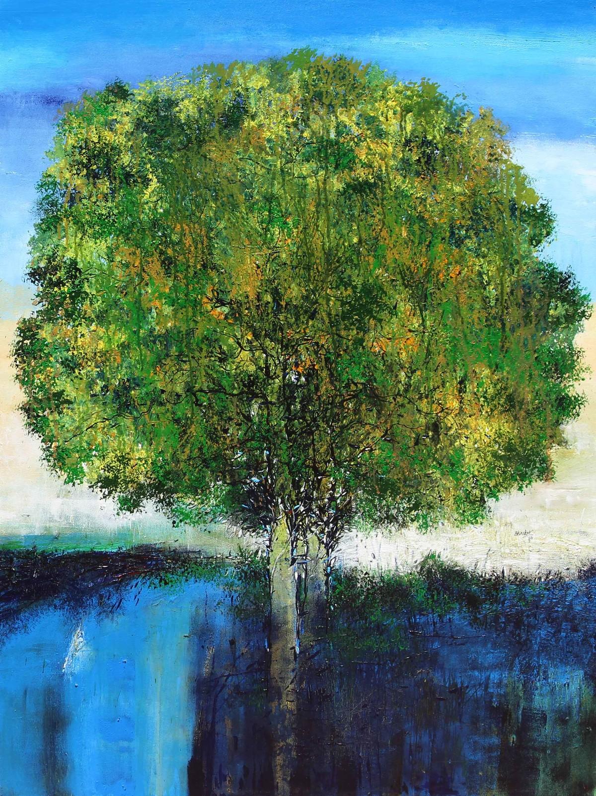 Tree of Life by artist Bhaskar Rao – Impressionism, Painting ...