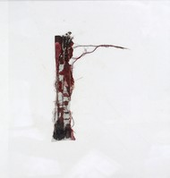 Red Horizon by Sanjay Sawant , Abstract Painting, Mixed Media on Canvas, Gray color
