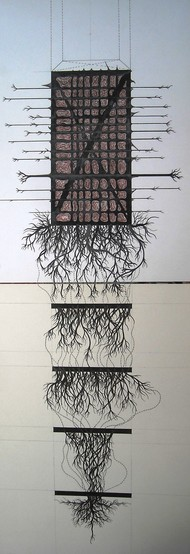 Growth Series by Parag Tandel, Geometrical, Illustration Drawing, Ink on Paper, Gray color