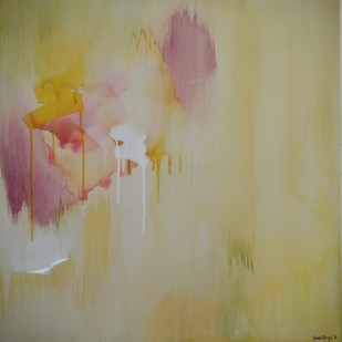 untitled (thirds-3). by Tarini Ahuja, Abstract Painting, Acrylic on Canvas, Beige color