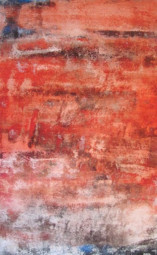 Untitled by Ajay Chakradhar, Abstract Painting, Mixed Media on Canvas, Pink color