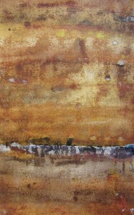 Untitled by Ajay Chakradhar, Abstract Painting, Mixed Media on Canvas, Brown color