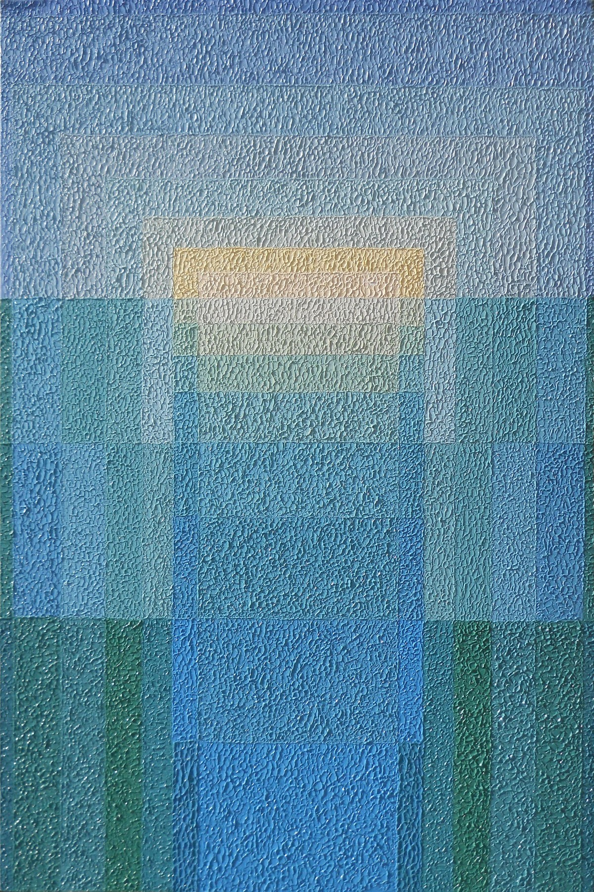 REFLECTION by S.P.Verma, Abstract Painting, Oil on Canvas Board, Blue color