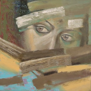 You are in my single note 3 by Pavel Banerjee, Expressionism Painting, Oil on Canvas, Brown color