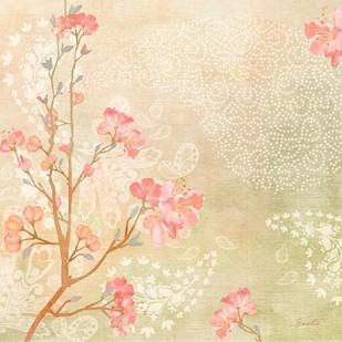 Sweet Cherry Blossoms I Digital Print by Evelia Designs,Impressionism