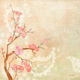 Sweet Cherry Blossoms II Digital Print by Evelia Designs,Impressionism