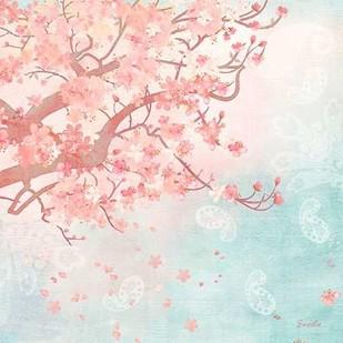 Sweet Cherry Blossoms III Digital Print by Evelia Designs,Impressionism