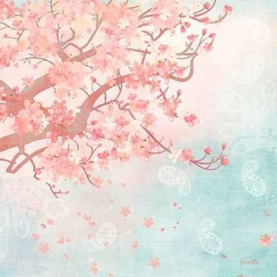 Sweet Cherry Blossoms III Digital Print by Evelia Designs,Impressionism