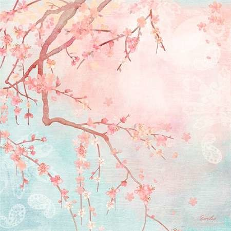 Sweet Cherry Blossoms IV Digital Print by Evelia Designs,Impressionism