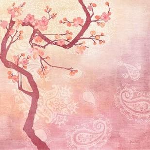 Sweet Cherry Blossoms V Digital Print by Evelia Designs,Impressionism