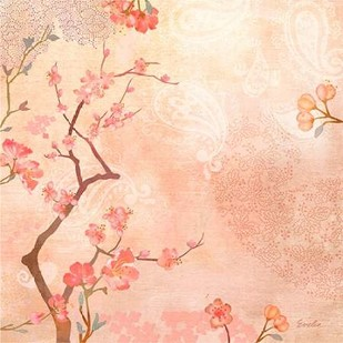Sweet Cherry Blossoms VI Digital Print by Evelia Designs,Impressionism