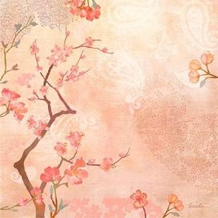 Sweet Cherry Blossoms VI Digital Print by Evelia Designs,Impressionism