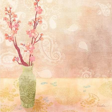 Vase of Cherry Blossoms I Digital Print by Evelia Designs,Decorative