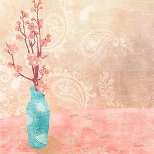 Vase of Cherry Blossoms II Digital Print by Evelia Designs,Impressionism