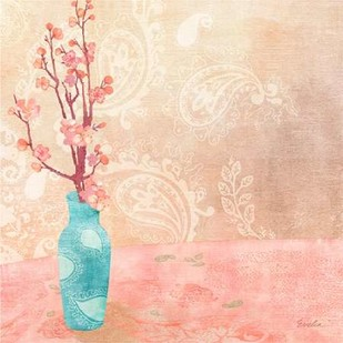 Vase of Cherry Blossoms II Digital Print by Evelia Designs,Impressionism
