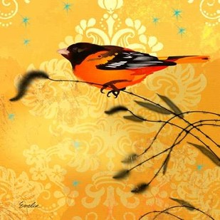 Oriole & Cartouche I Digital Print by Evelia Designs,Decorative