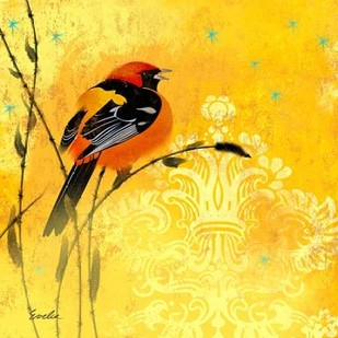 Oriole & Cartouche II Digital Print by Evelia Designs,Decorative