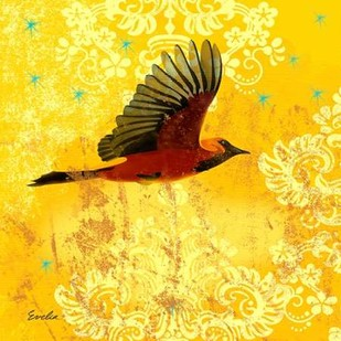 Oriole & Cartouche III Digital Print by Evelia Designs,Decorative