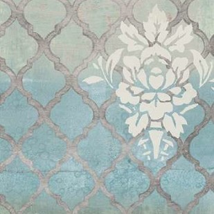 Teal & Arabesque I Digital Print by Studio W,Decorative