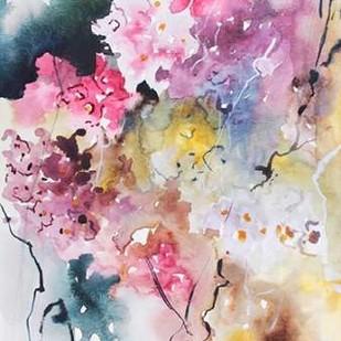 Blooms Aquas III Digital Print by Herrera, Leticia,Abstract