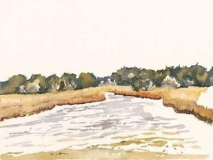 Minimalist Coastline II Digital Print by Miller, Dianne,Minimalism