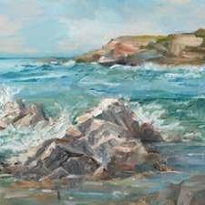Impasto Ocean View II Digital Print by Harper, Ethan,Realism
