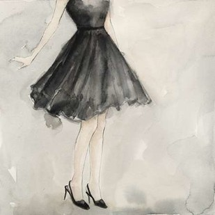 Little Black Dress I Digital Print by Meagher, Megan,Decorative