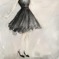 Little Black Dress I Digital Print by Meagher, Megan,Decorative