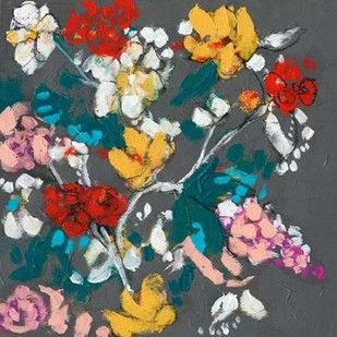 Flower Cascade II Digital Print by Goldberger, Jennifer,Decorative
