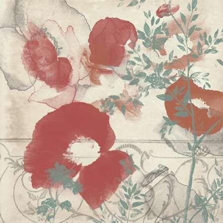 Floral Flutter I by artist Goldberger, Jennifer – Decorative