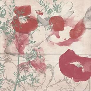 Floral Flutter II Digital Print by Goldberger, Jennifer,Decorative