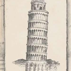 Sketch of Pisa Digital Print by Harper, Ethan,Illustration