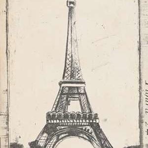Sketch of Eiffel Digital Print by Harper, Ethan,Illustration