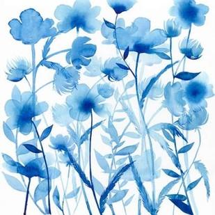 Cobalt Sway I Digital Print by Popp, Grace,Impressionism