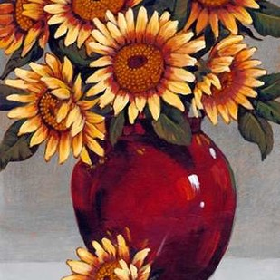 Vase of Sunflowers II Digital Print by OToole, Tim,Decorative